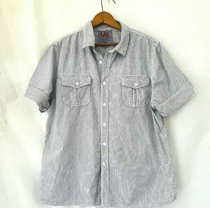 UK Style Men Plaid Shirt Sz L,  French Connection